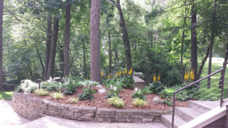 Property with our landscaping mulch in Rochester, MN